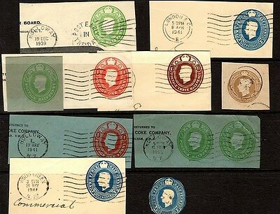 GB - Pre-paid stamps - King George VI  -some great postmarks