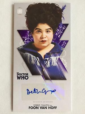 DOCTOR WHO Topps Autograph - DEBBIE CHAZEN as FOON VAN HOFF - Widevision