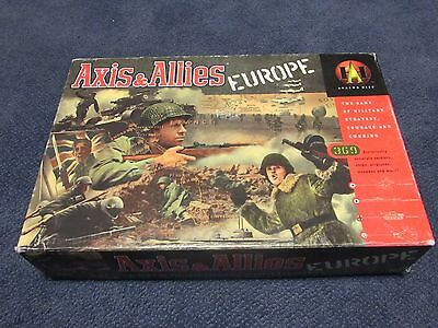 Axis & Allies Europe Avalon Hill Board Game War Conquest year 1999