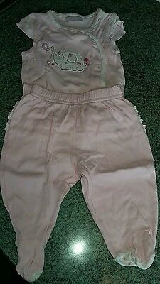 Girls baby grow and trousers set age0-3mths