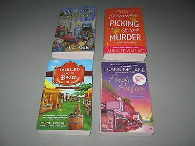 Lot of 4 Cozy Mystery books(( by Tremel,Wallace,McLane