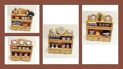 1:12 scale dolls house miniature dressed O.O.A.K wall unit 4 to choose from.