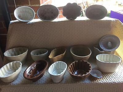 16 jelly moulds ( Very Old & Collectable)