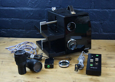 ROYALE 35mm FADING / DISOLVING DUAL TRAY TWIN LENSES SLIDE PROJECTOR IN CASE