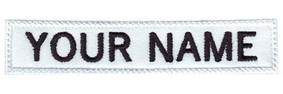 """MILITARY RECTANGULAR 3"""" to 5"""" x 1"""" IN CUSTOM EMBROIDERED NAME / TEXT TAG PATCH"""