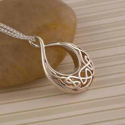 Sterling Silver Celtic Window to the Soul Pendant  KEITH JACK Jewelry Small Tear