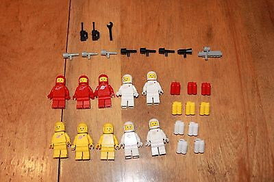 Vintage LEGO Space astronaut minifigures  with  accesories (6970 and other)