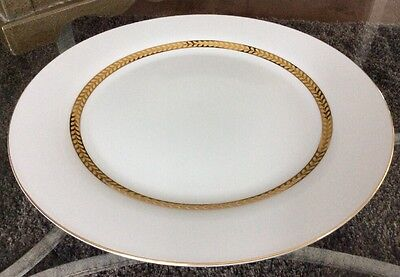 "1998 Retroneau Imperial Gold 12"" Charger Plate Platter 22K Trim 491B II XLNT!!"