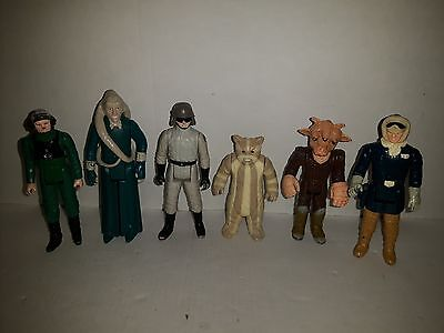 Star Wars Action Figures 6 Qnty 1980'S