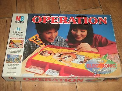 """Boxed """" Operation """" The Game That Needs A Steady Hand Mb Games Dated 1996"""