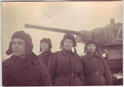 Russian Wwii Photo: Tankists, Wintertime