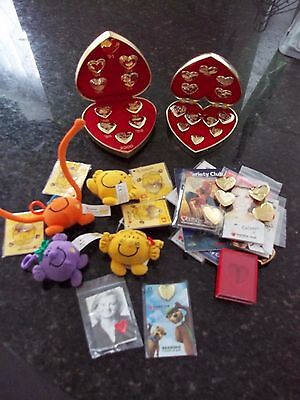 Job lot of VINTAGE VARIETY CLUB THE HEART APPEAL IN HEART BOX (Rare)