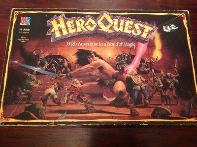Vintage Heroquest, MB Games, Many Figures Missing, See Listing