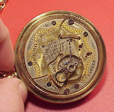 Vintage Seth Thomas 2 tone Fancy Gold Pattern 18s Pocket Watch 18s Running