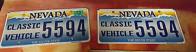 Nevada License Plates Pair 2 Special Original Tags Classic Vehicle Vintage 5594