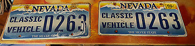 Nevada License Plates Pair 2 Special Original Tags Classic Vehicle Vintage 0263