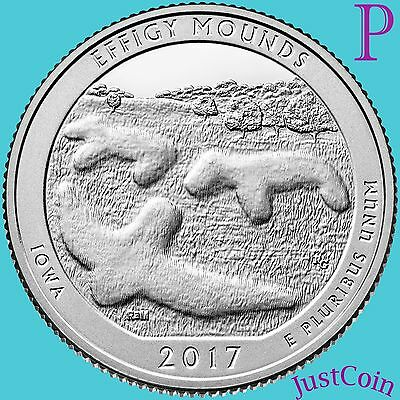 2017-P Effigy Mounds National Monument (Iowa) Quarter U.s. Mint Uncirculated