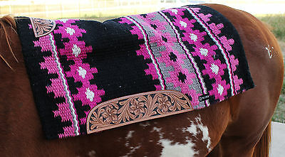 34x36 Horse Wool Western Show Trail SADDLE BLANKET Rodeo Tack Pad Pink 36300C