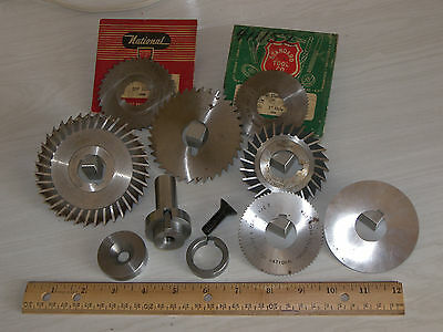 """1.00"""" Slitting Saw Arbor & 7X Milling Cutters"""