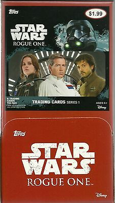 2016 Topps Star Wars ROGUE ONE New Trading Card Retail 36pk. Gravity Feed Box