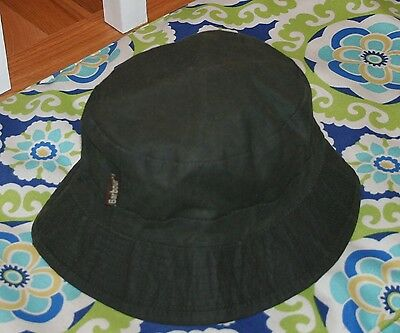 Barbour Child Sage Green Wax Hat Size Large