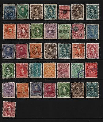 Costa Rica - 36 old stamps - see scan !