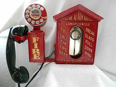 Fire Alarm Call Box Telephone Antique Phone Police Station Sheriff Old Gamewell