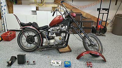 1969 Triumph Bonneville  Late 60's to early 70's triumph bonneville or Tiger 750 rigid chopper barn find