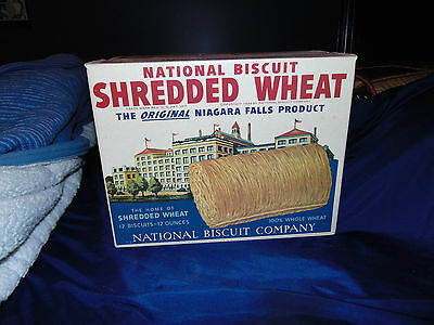 Vintage Shredded Wheat National Biscuit Company Advertising Box 1939 MUST SEE!!