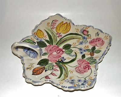 Handled Leaf Dish in Verna by Blue Ridge Southern Pottery No Reserve