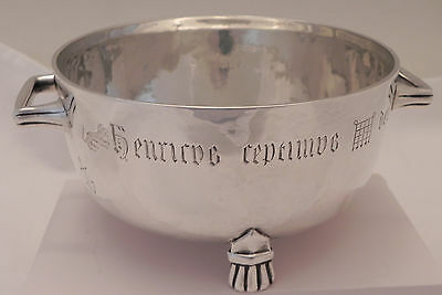 Superb Arts & Crafts Solid Sterling Silver Winchester Bushel Bowl by Ross & Sons