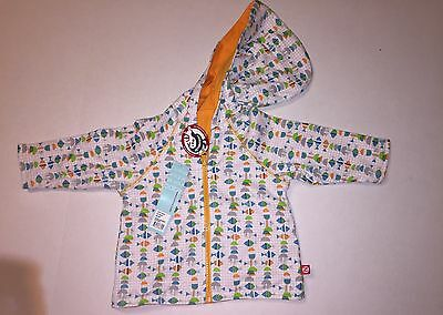 Zutano Fishies Reversible Zip Hoodie Jacket 6 Months New With Tags