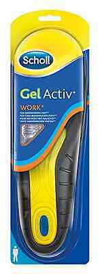 SCHOLL GEL ACTIV WORK INSOLES FOR MEN FREE HEEL CUSHIONING Shoes Feet Wear Shape