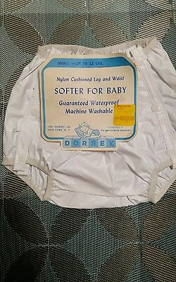 Vintage Dorsey Washable Waterproof Baby Pants~New with tags~Small~0-3 months