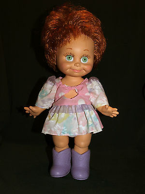 Galoob BABY FACE doll So Shy Sherri, green pinwheel eyes