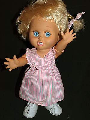 Galoob BABY FACE doll So Innocent Cynthia, light blue eyes