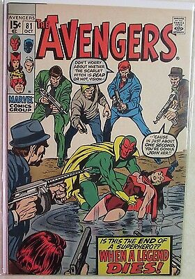 Marvel Comics - Avengers #81 - 1960s Silver Age Comic - High Grade - Under Guide