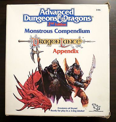 Dragonlance Monstrous Compendium Box Set - Excellent condition - AD&D