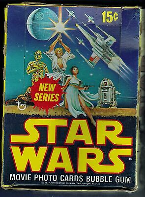 Vintage Topps Empty 1977 Star Wars Series 2 Box No Cards,no Packs.....empty