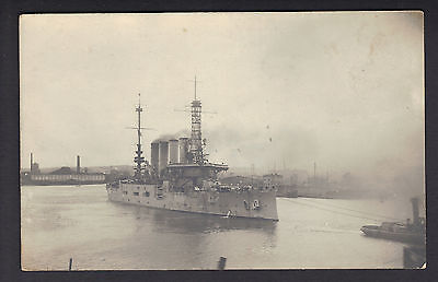 Real Photo Post Card, USS Pittsburgh in Gdansk, Last Voyage
