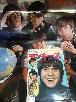 Monkees Japan Photo Book w POSTER Rock Show Magazine Special Issue 1981
