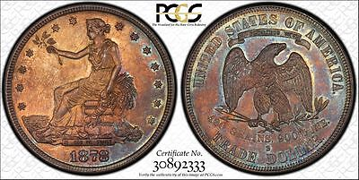 1878-S Trade Dollar PCGS MS63 TONED!