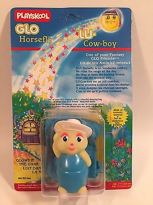 1986 Vintage Playschool Gloworm Glo Friends Horsefly Lu Cowboy Unpunched Rare