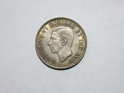 Canada 1939 $1 George Vi Toned Silver World Crown Type Coin Old Collection Lot