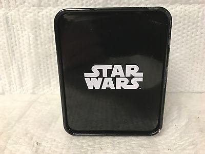 Disney ~ Star Wars ~ Watch In Case Black And White With Large Face Free Shipping
