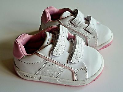 Toddler Girls Stride Rite Velcro Shoes Sneakers Tennis Walking Size 4 - Leather