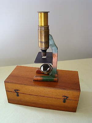 "Antique Brass Cased Childs Microscope ""wood Bros.  Liverpool"""