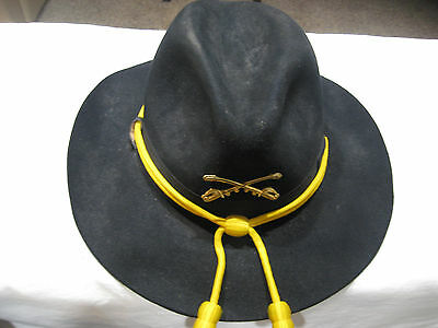 U.S. Army Stetson Cavalry with Insignia Hat, Never Worn! Still in box Size 6 7/8