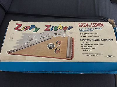 Vintage Zippy Zither Musical Instrument