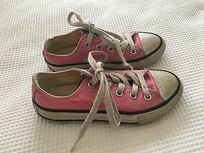 Girls Converse All Star Shoes US11 EUR28 - Pink